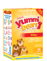 Hero Nutritional Products, Yummi Bears Fiber, Natural Fruit Flavors, 60 Gummy Bears兒童果汁味菊苣根纖維素軟糖(幫助解除便秘)