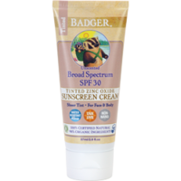 Badger- SPF 30 Tinted Unscented Sunscreen Cream - 2.9 oz 輕薄有色防曬霜