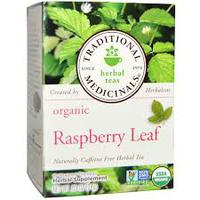 Traditional Medicinals, Organic Raspberry Leaf, Caffeine Free, 16 Tea Bags (24 g)有機認証覆盆子葉茶