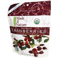Made in Nature, Organic Cranberries, No Sugar Added 142g (有機認証小紅莓乾)