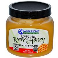 Wholesome Sweeteners, Organic Raw Honey, 16 oz 有機認証蜜糖