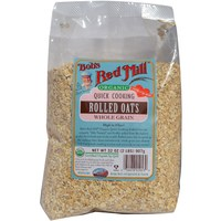 Bob's Red Mill, Organic Quick Cooking Rolled Oats, Whole Grain, 1 lb 有機即沖燕麥