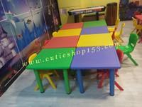 Cutieshop153 幼兒園/playgroup兒童體育器材遊戲設施~學習四人檯 (不連椅)(實物拍攝) #14894