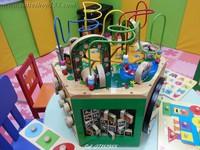 Cutieshop153 益智優質外貿啟蒙積木玩具~外貿六面體多功能繞珠玩具箱#141939