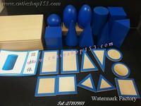 (需預訂)Cutieshop153 益智啟蒙玩具積木~蒙氏蒙特梭利教具 (感官教具)~~ 幾何立體組幾何學立體組(Geometric Solids)