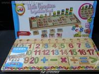 Cutieshop153 益智玩具積木~學前教育早期啟蒙數學~計計數分辨顏色數量對數板 # 141980