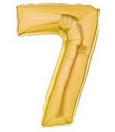 "40"" Gold Number ""7"" Supershape Balloon"