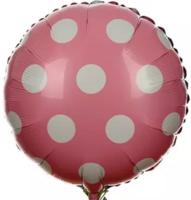"18"" Pink Polka Mylar Balloon"