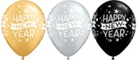 "11"" New Year Confetti Dot (per ball) [balloon]"