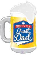 """34"""" Great Dad Beer Mug [balloon]"""