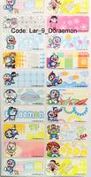 CosmoKids - 防水姓名字貼紙, 大尺寸 46mm x 18mm, 36個/套, Doraemon (同時訂購布貼, 可以$25換購)