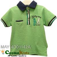 歐洲童裝 - Mayoral, 小童短袖Polo Tee, 前M字, 蘋果綠(#86, 92)