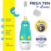 Vivatec 360度 MEGA TEN牙刷, 小童聲波電動牙刷, 小海獺【個人嬰兒用品】