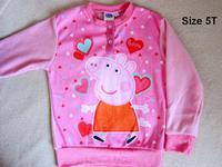 Peppa Pig 佩佩豬 可愛女童上衣衛衣5歲碼 #15