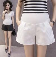 2020孕婦托腹短褲 時尚提花格子孕婦托腹短褲