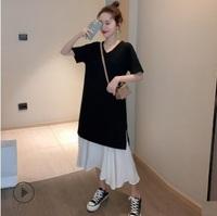 2020孕婦時裝專門店香港 OL孕婦返工服 孕婦系列大肚婆衫 online shop 撞色接駁孕婦連衣裙