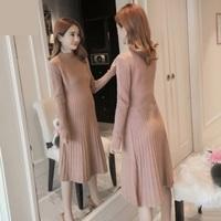 2019孕婦秋裝 online shop香港 大肚衫 孕婦上班返工服 針織onesize 針織長袖孕婦裙