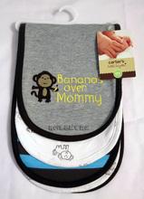 清倉價--carter's carters 嬰兒BB兒童吸汗巾 墊背巾 一組三條 猴子款