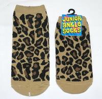 (一set兩對) 出口日本親子襪 豹紋款