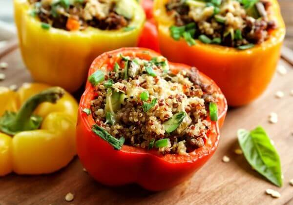 Protein-Packed Quinoa Stuffed Peppers