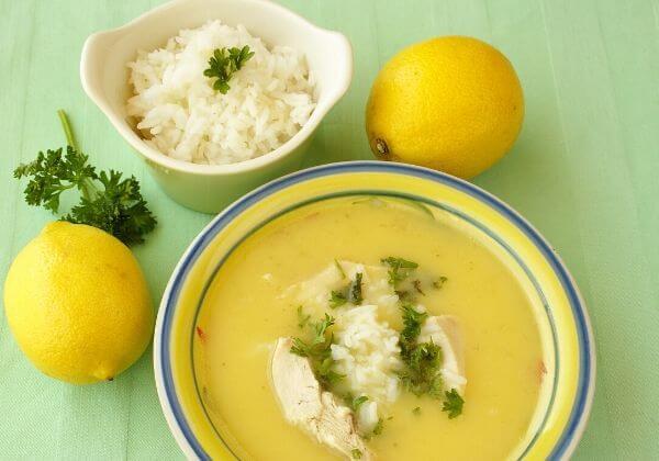 Zesty Greek Chicken, Lemon, and Rice Soup