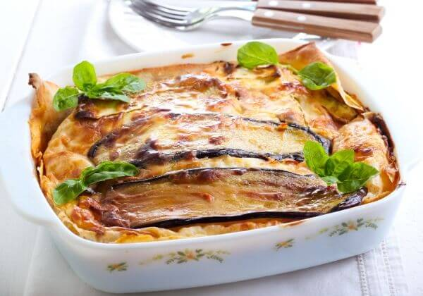 Eggplant and Sweet Potato Lasagna + Benefits of the Vegetarian Diet