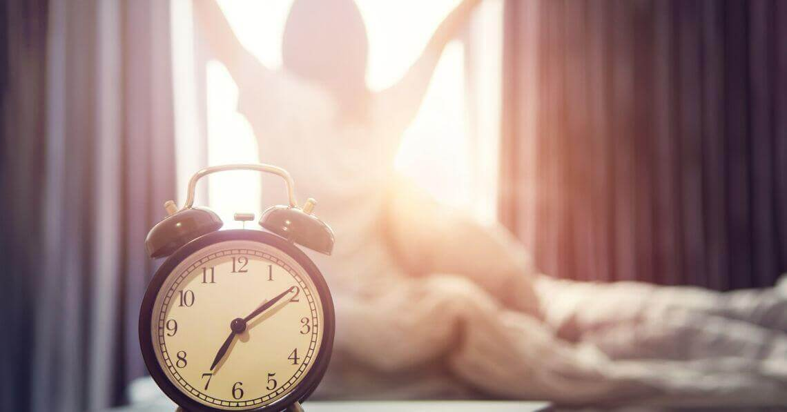 Woman stretching in the morning