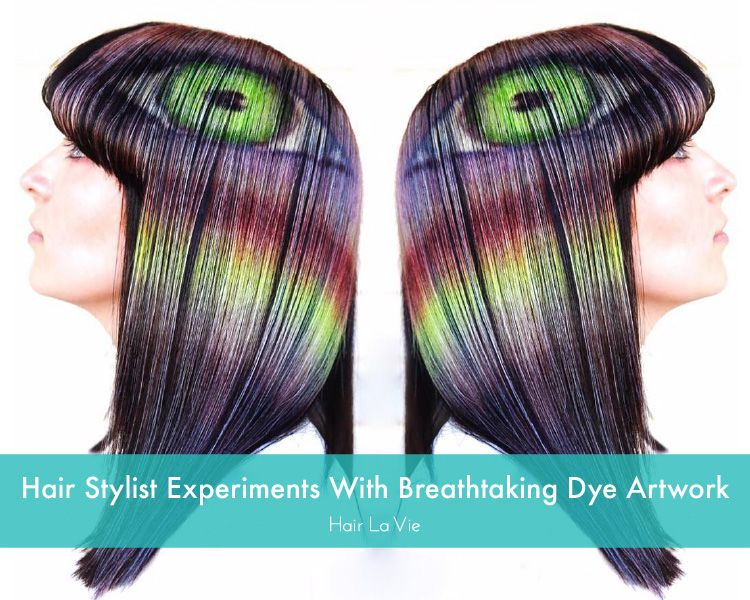 Experimental Hairstylist Goes Viral With Beautiful Hair Dye Designs