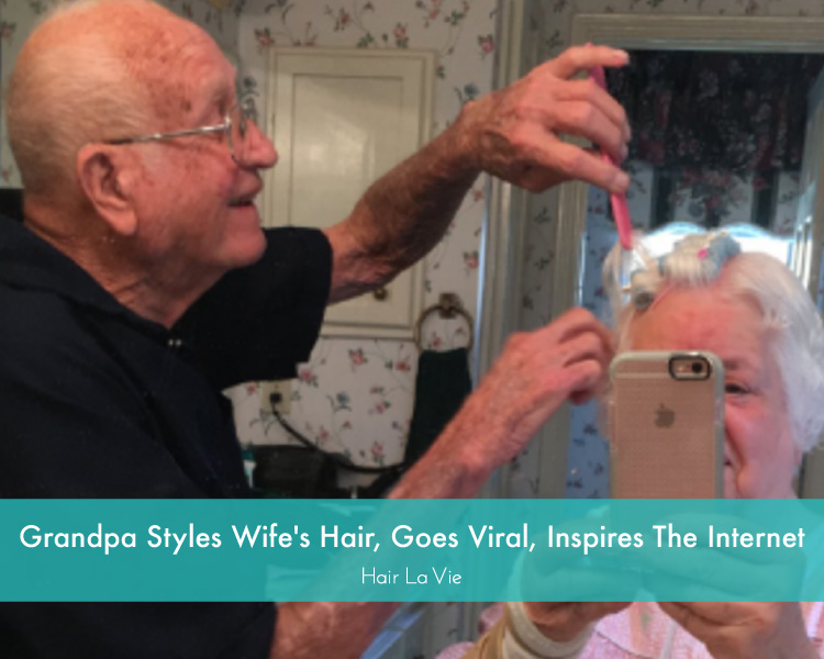 True Love: Grandpa Styles Wife's Hair After Wrist Surgery, Inspires Millions on Twitter