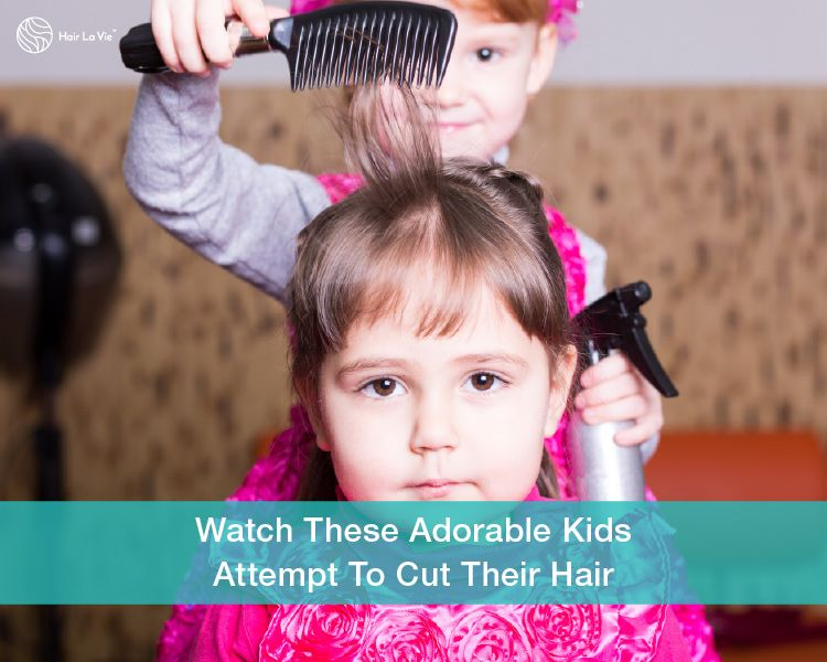 Yikes! Cute Kids Try To Cut And Style Their Own Hair