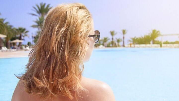 Damaged vacation hair