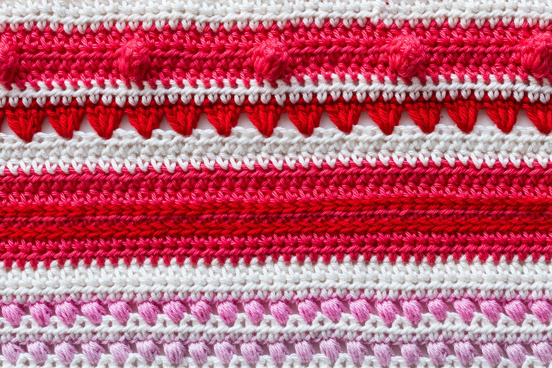 Baby Rainbow Sampler Blanket Part 7 Haak Maar Raak