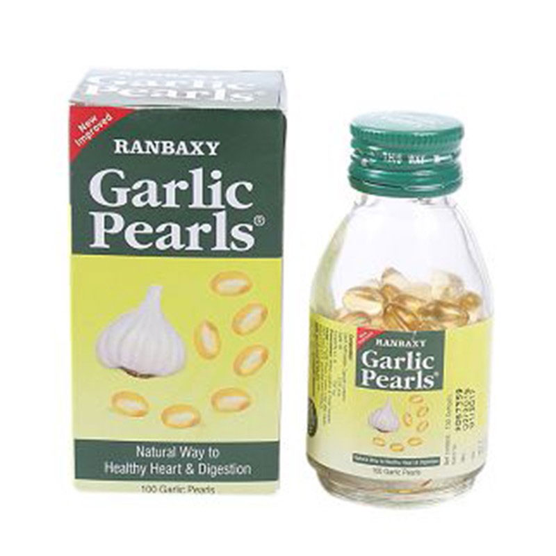 Ranbaxy Garlic Pearls Natural Way To Healthy Heart & Digestion 100 Pieces