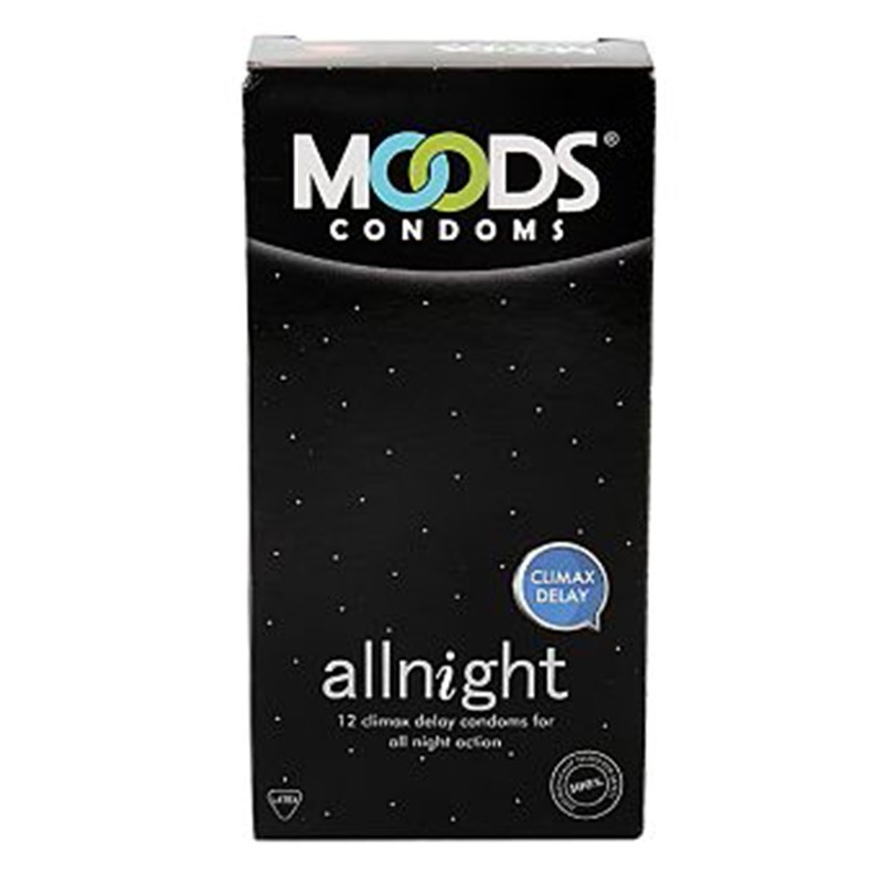 Moods Extra All Night Condoms Pack Of 12