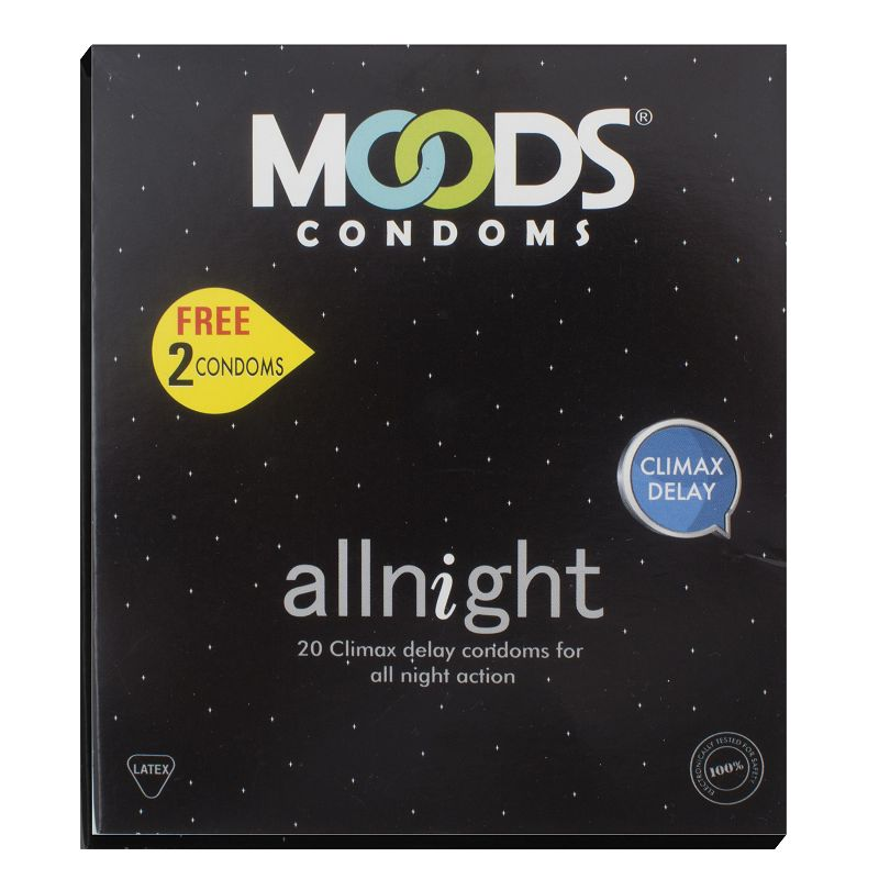 Moods All Night Condoms Pack Of 20