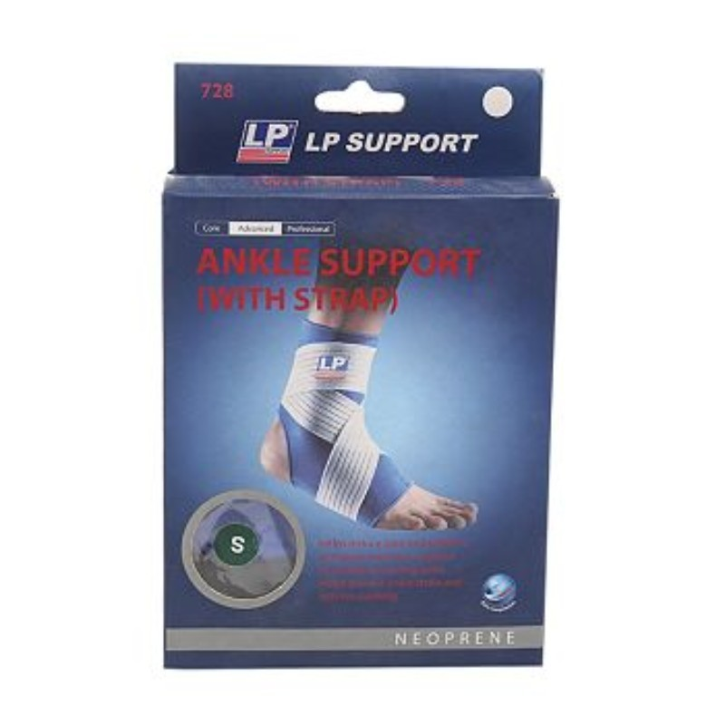 LP Support Neoprene Ankle Support With Strap Small Size 728