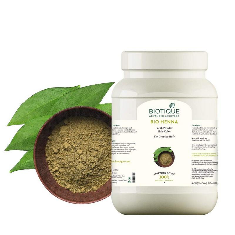 Biotique Bio Henna Fresh Powder Hair Colour 500gm