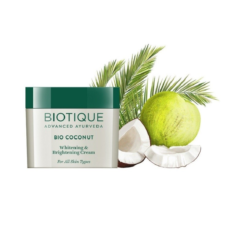 Biotique Bio Coconut Whitening & Brightening Cream 50gm