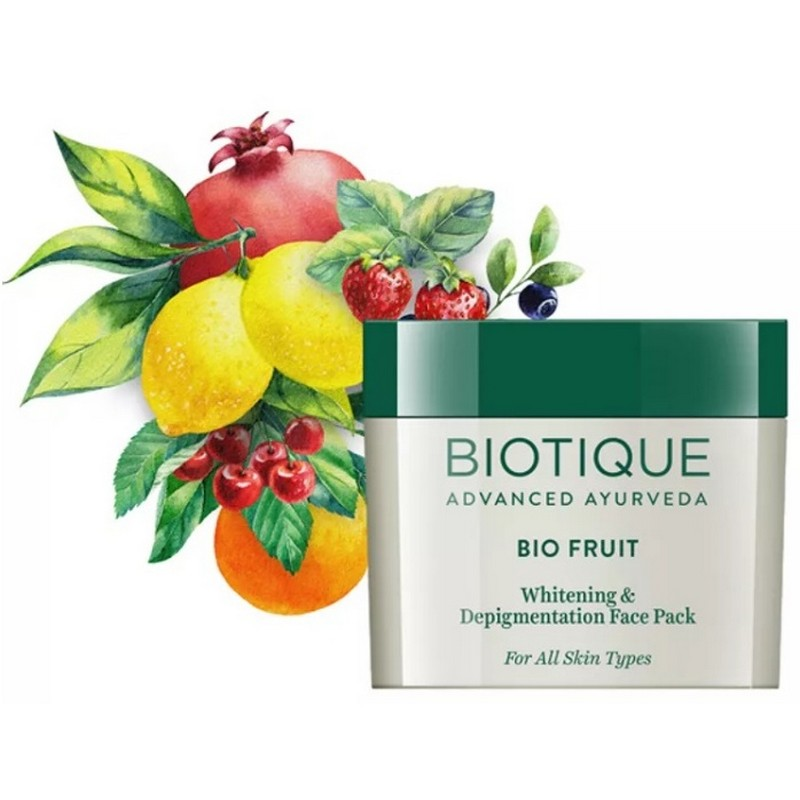 Biotique Bio Fruit Whitening & Depigmentation Tan Removal Face Pack 75gm