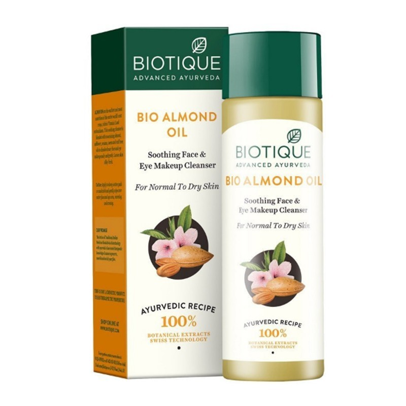 Biotique Bio Almond Oil Soothing Face & Eye Makeup Cleanser 120ml