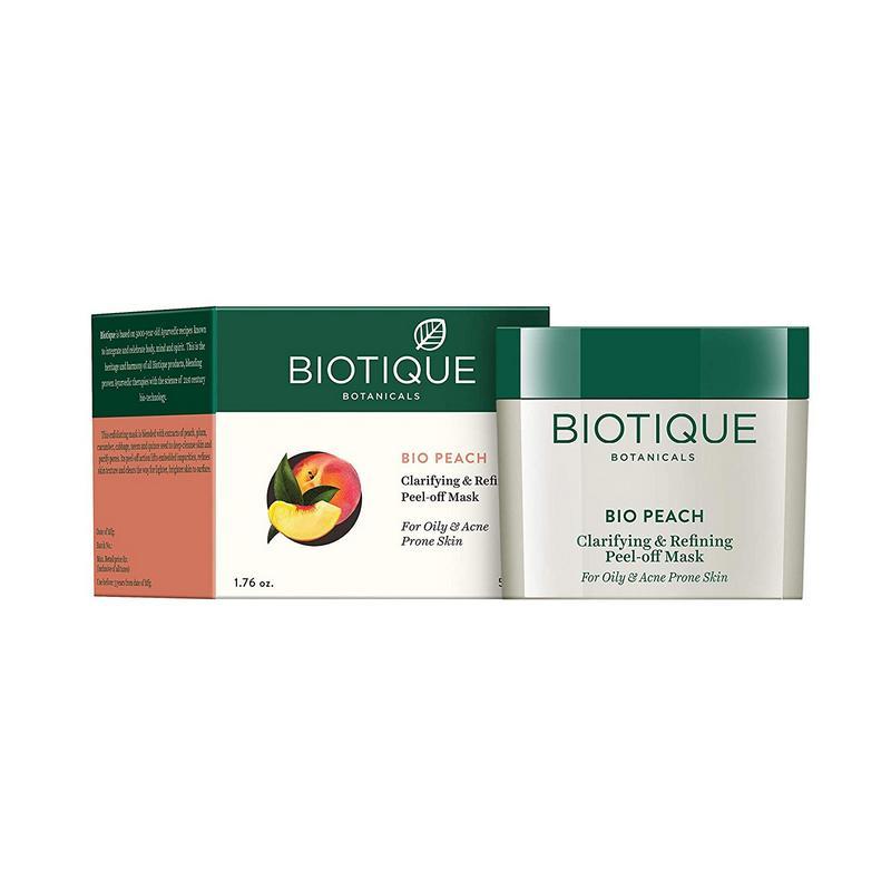Biotique Bio Peach Clarifying & Refining Peel Off Mask 50gm