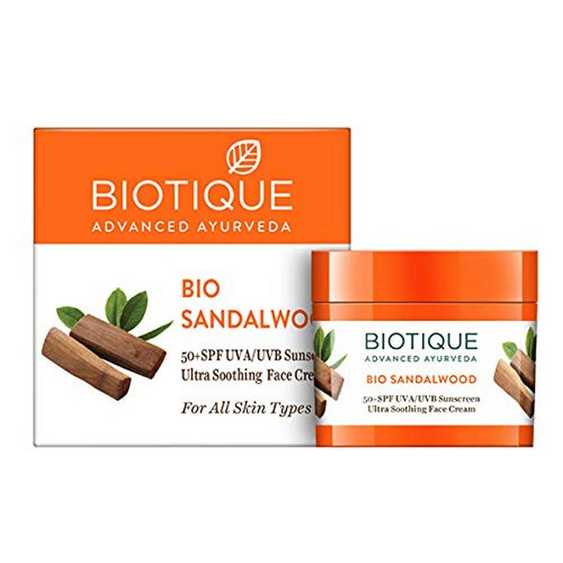 Biotique Bio Sandalwood Ultra Soothing Face Cream SPF50+ 50gm