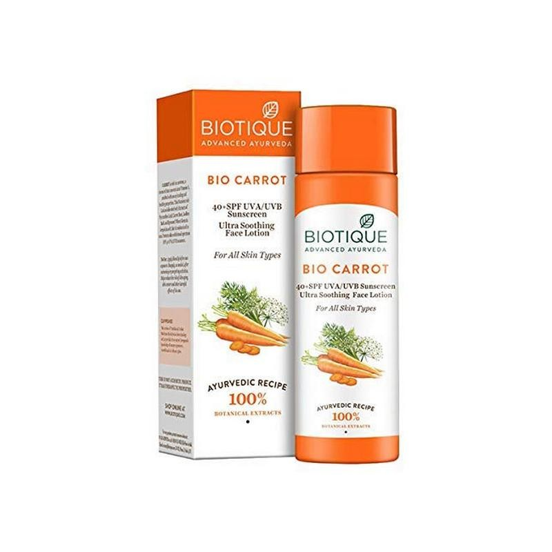 Biotique Bio Carrot Ultra Soothing Face Lotion SPF40 120ml