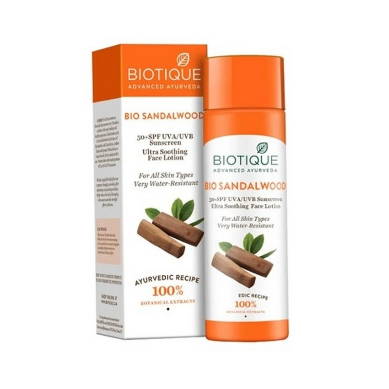Biotique Bio Sandal Wood Ultra Soothing Face Lotion SPF50+ 120ml