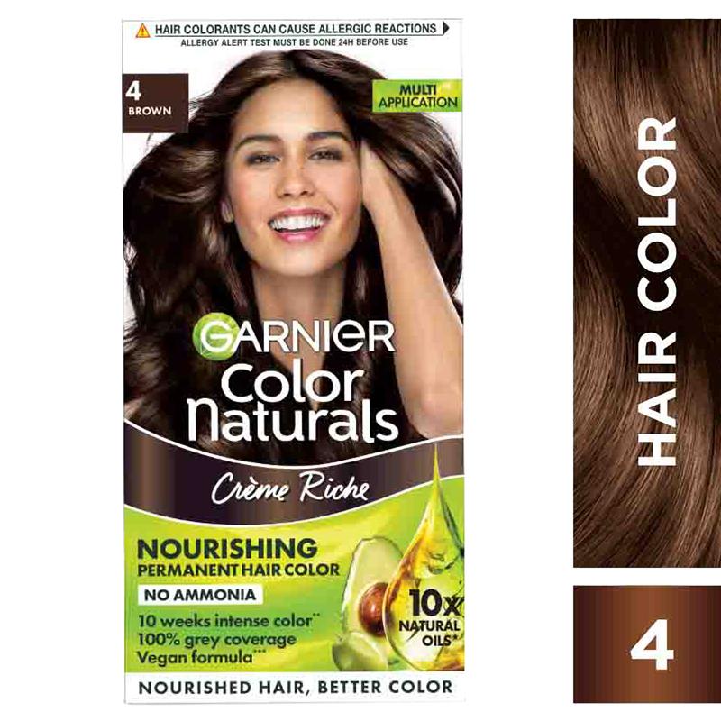 Garnier Color Naturals Hair Colour Cream Brown 4