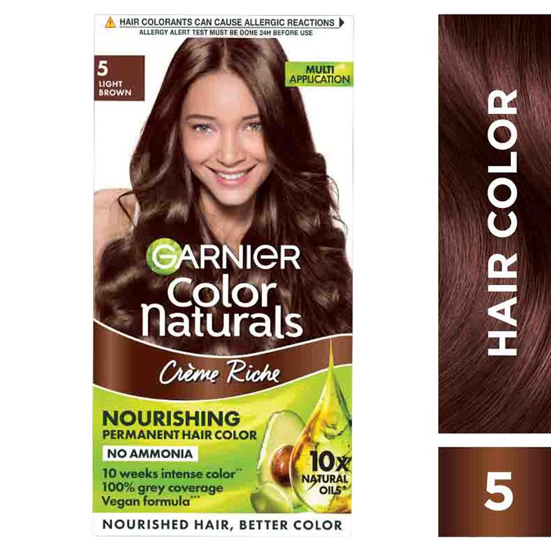 Garnier Color Naturals Hair Colour Cream Light Brown 5