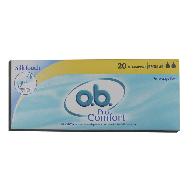 O.B. Pro Comfort Silk Touch Regular Tampons Pack Of 20