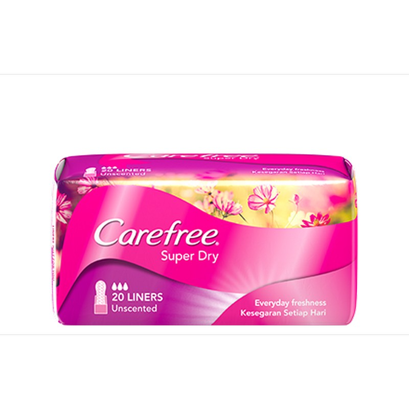 Carefree Super Dry Panty Liners 20S