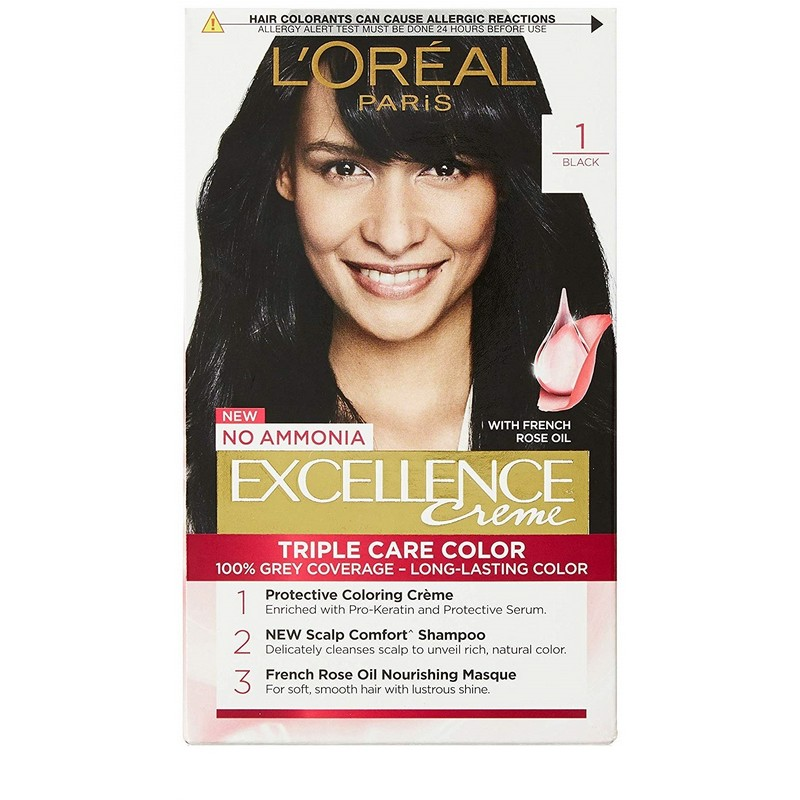 L'Oreal Paris Excellence Creme Triple Care Hair Colour Black 1