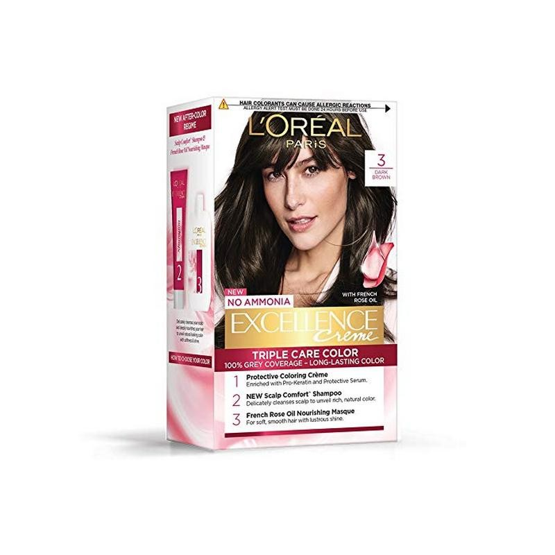 Buy Loreal Paris Excellence Cream Hair Color Shade No 3 Natural